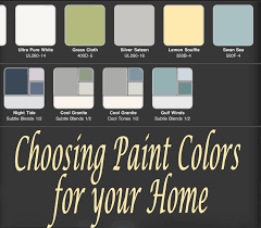 choosing paint colors. choosing paint colors for your home c