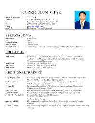 Perfect Resume Model Sample For Fresh High School Graduate Writing