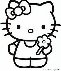 Free hello kitty coloring pages for you to color online, or print out and use crayons, markers, and paints. Girly Hello Kitty E981 Coloring Pages Printable