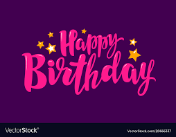 Purple Happy Birthday Banner Happy Birthday Banner Birth Party Holiday Vector Image