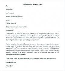 Internship Thank You Letter Nfcnbarroom Com
