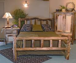wood furniture rustic wood bedroom furniture sets with decorative plants antique table lamp unique natural design