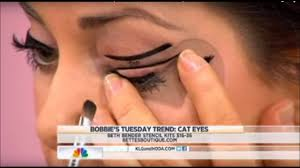 beth bender beauty eyeliner stencils on nbc s today show with bobbie thomas beth bender beauty