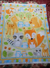 What A Hoot OWL Quilting COT Quilt Patchwork Sewing Fabric Panel ... & Brand NEW Baby COT Quilt Panel | eBay Adamdwight.com