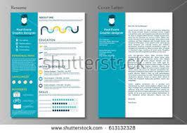 Resume Cover Letter Collection Modern Cv Stock Vektorgrafik