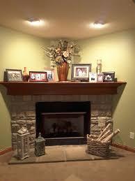how i decorated my deep corner fireplace