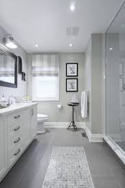 Bathroom Tile Floor Patterns Magnificent Gray Tile Floor With White Vanity Bathroom Ideas Love How They