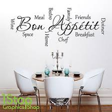image is loading bon appetit wall sticker quote kitchen home wall  on wall art decals quotes for kitchen with bon appetit wall sticker quote kitchen home wall art decal x281 ebay