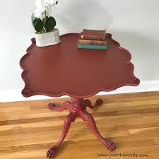Red and black furniture House Black Glaze On Red Chalk Paint Red Painted Table With Black Wax Dark Wax Fuelcalculatorinfo How To Get Beautiful Results With Black Furniture Wax