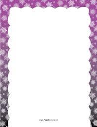 purple snowflake border. Contemporary Border Purple Snowflake Border Page Border To P