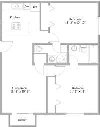 2 Bedroom 2 Bath Apartment Floor Plans | brucall.com