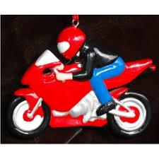 Sports Bike Motorcycle Christmas Ornament