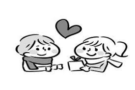 男の子女の子バレンタインのカップルのイラスト無料商用フリー