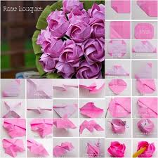 Paper Origami Flower Bouquet Diy Origami Paper Flower Bouquet Howtoinstructions Us Craft