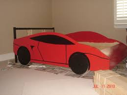 Materials: Fjellse full size bed frame Description: My 3 year old son  wanted a race car bed, but we needed at least a full size for his large  bedroom.