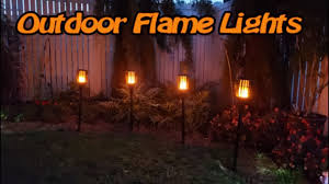 Ollivage <b>Solar</b> Torch Flickering <b>Flame Lights</b> - review - YouTube