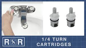 1 4 turn cartridges repair and replace 2 handle bathroom faucet
