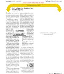 newspaper article accidentally sums up the marijuana legalization marijuana debate ldquo