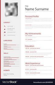 Professional Design Resume Professional Red White Resume Cv Design Template