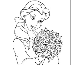 The beautiful clothes and colorful accessories of the princesses have attracted them forever. Disney Belle Coloring Pages Coloring Home