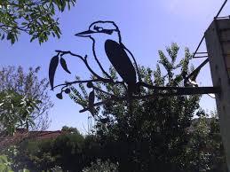 kookaburra metal garden art ornament