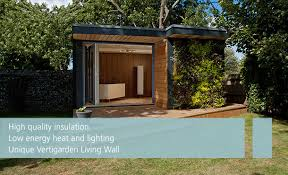 outdoor garden office. eden garden rooms bespoke london kent south outdoor office