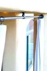 curtain rods 144 inches hanging outdoor curtains pipe curtain rod on a covered patio for outdoor