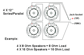 impedance speaker cabinet wiring calculated by multiplying the individual speaker rating by the number of speakers in