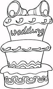Grote Taart Voor Bruiloft Kleurplaat Gratis Kleurplaten Printen