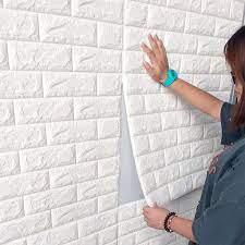 Buy 5Pcs Large 3D White/Gray Brick Wall ...