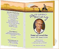 funeral pamphlet sample memorial program template