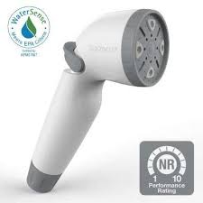 snap n spray watersense 1 8 detachable showerhead in white
