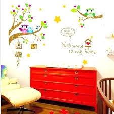 childrens wall stickers children art cute owl tree decal kindergarten vinyl decor mural john lewis childrens wall stickers