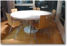Table De Cuisine Corian Ronde Crea Diffusion Spécialiste Corian