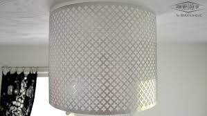 punched tin ceiling light fixture designs