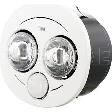 hpm 3 in 1 bathroom heat lamp light exhaust fan white with 2 heat 1 led light