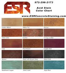 acid stain color chart stained concrete floors colors a29 floors