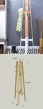 How High To Hang A Coat Rack How to build a DIY Modern Coat Rack Free printable project plans 55