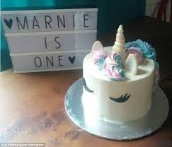 Baker Tries To Bake A Unicorn Cake But Horn Ends Up Looking Very
