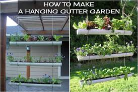 how to make a hanging gutter garden diy projects