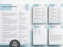 4 Pages Resume Cv Template By Resume Templates On Dribbble
