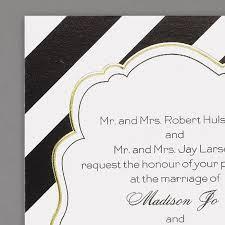 Black And Gold Wedding Invitations  Classic Invites