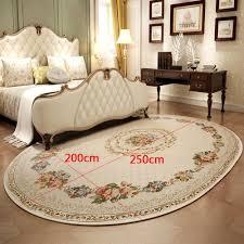 Amazonde Carpet Europäischen Teppich Wohnzimmer Couchtisch Ovalen