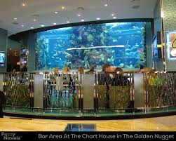 Bar Seating Area In Front Of Huge Aquarium At The Chart