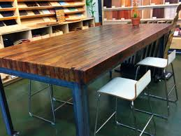 round butcher block table top kitchen high island for tables ikea butchers expand your workspace with