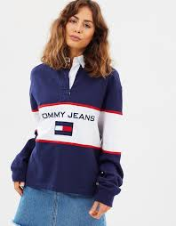 90s blocked rugby shirt by tommy jeans the iconic australia