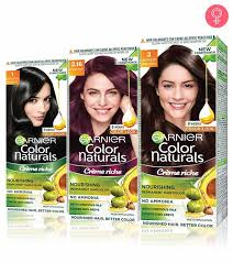 Garnier Color Naturals Shades Chart Top 15 Garnier Hair Coloring Products Available In India