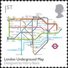 Royal Postage Chart Uk Stamp London Underground Map Designed By Harry Beck