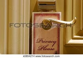 Stock Photo  Privacy Please Door Sign Fotosearch Search Images Mural Photographs
