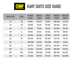Kart Suit Size Chart Buy Omp Ks 3 Kart Suit Demon Tweeks